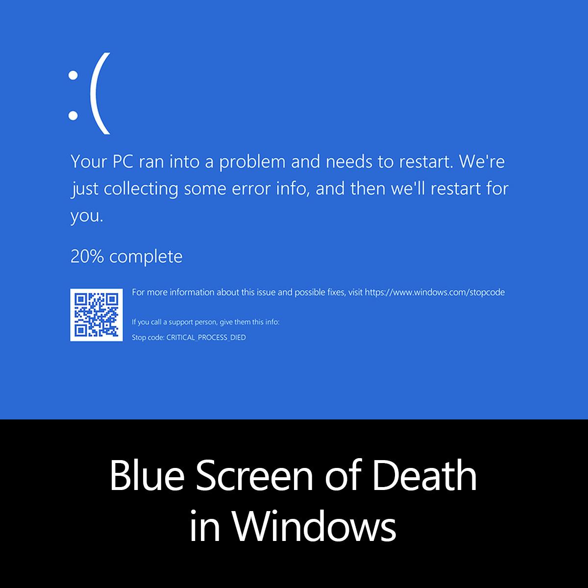 Blue Screen of Death in Windows