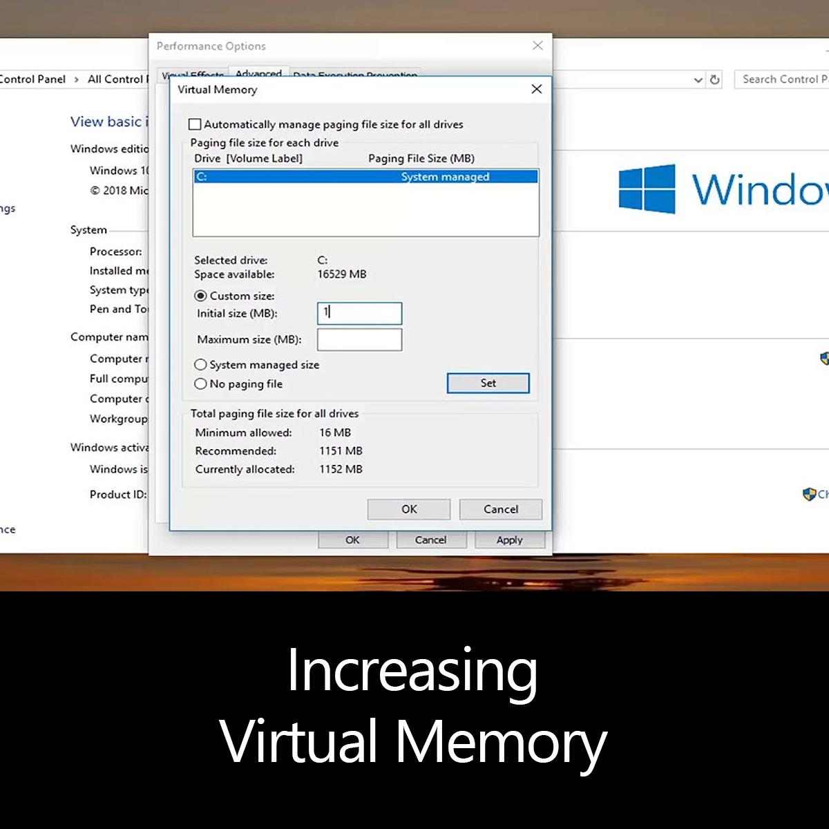 Increasing Virtual Memory