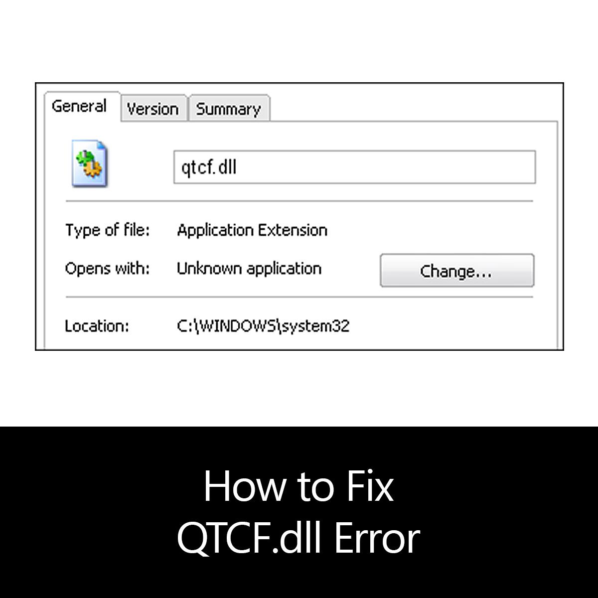 How to Fix QTCF.dll Error