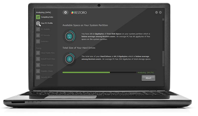 restoro application screen