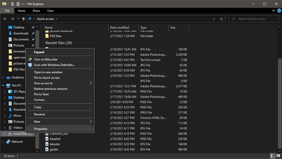 file explorer hd properties