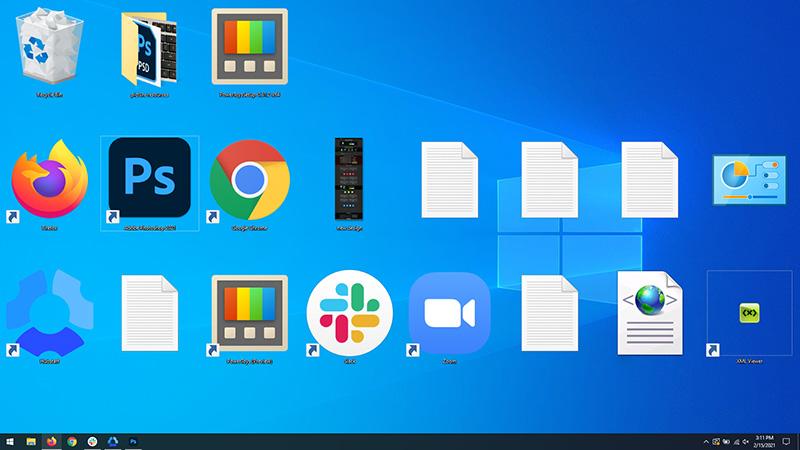 icons on desktop