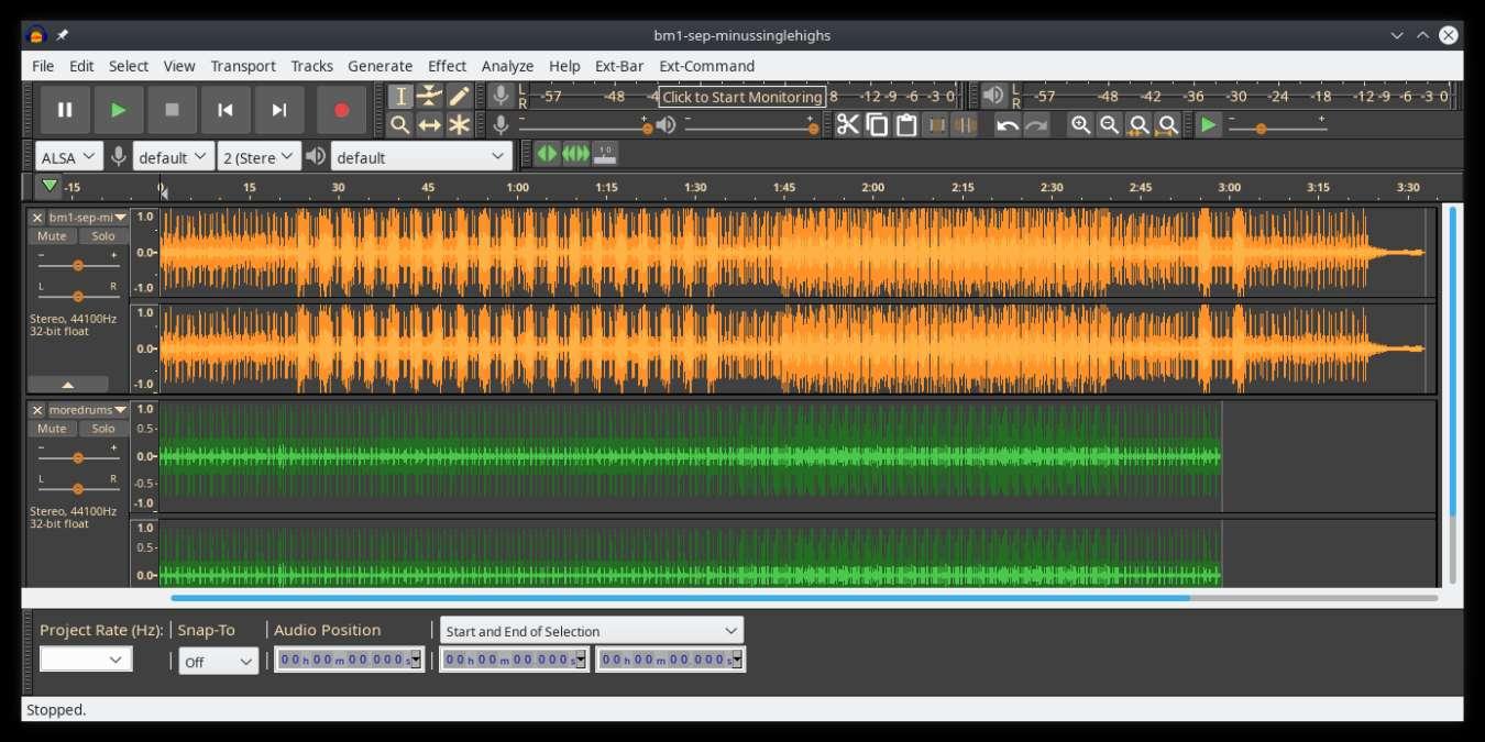 open source sound editor audacity