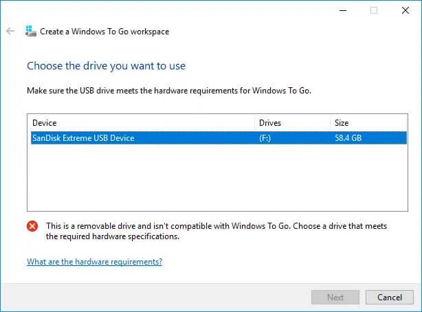 Windows 10 to go