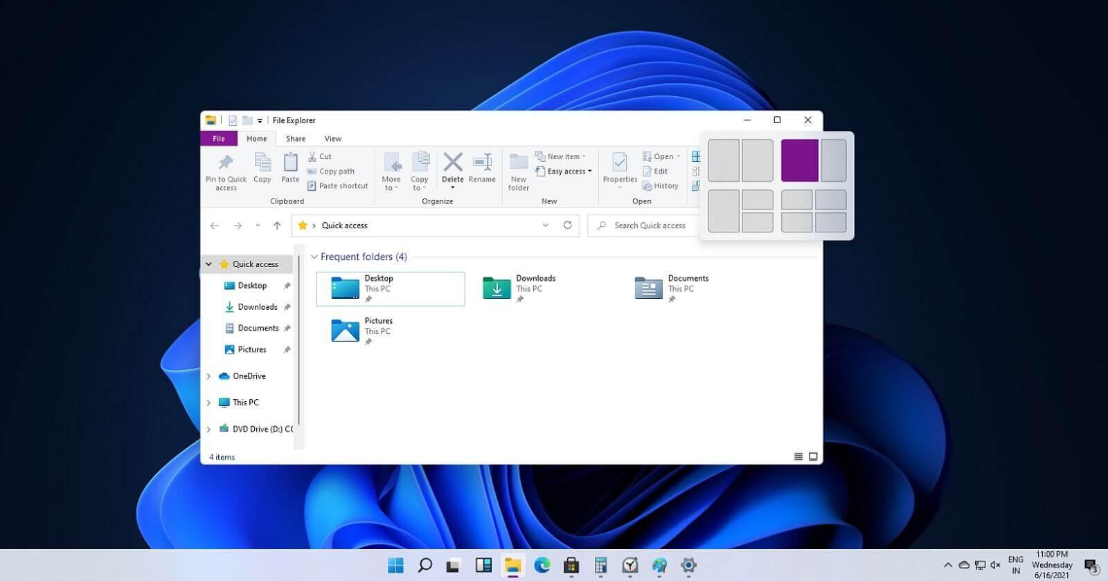 Windows 11 snap controls