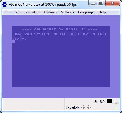 vice c64 emulator